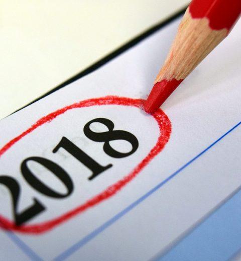 Kalender-rode pen 2018
