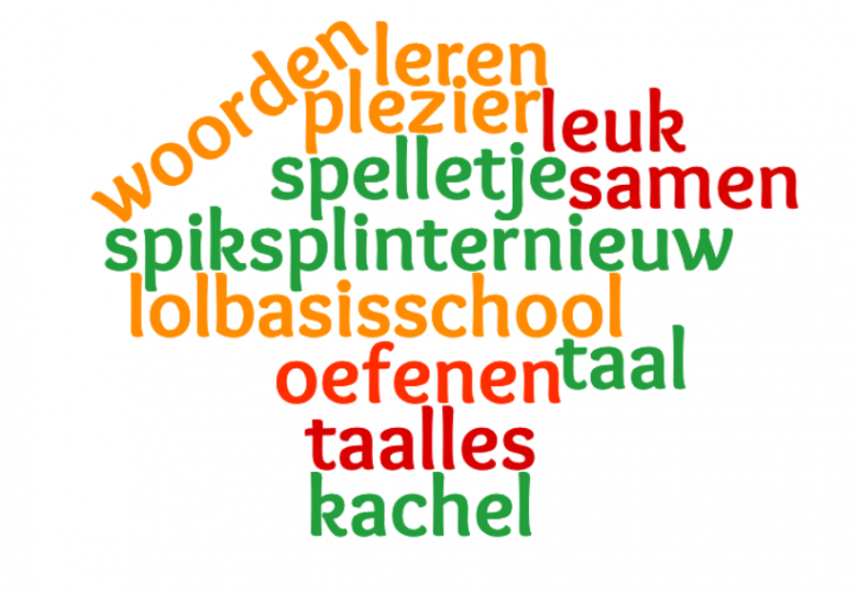Taalplezier woordenwolk